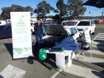 Peter next to his custom built EV - manning the stall at Bunnings